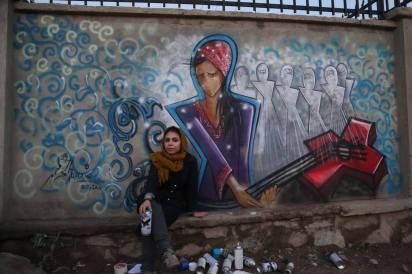 Shamsia Hassani - Street artist